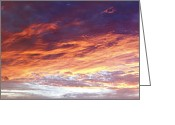 Fire Photo Greeting Cards - Sky on fire Greeting Card by Les Cunliffe