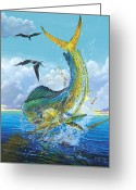 Barracuda Greeting Cards - Slammer Greeting Card by Carey Chen