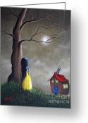 Shawna Erback Greeting Cards - Snow White by Shawna Erback Greeting Card by Shawna Erback