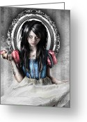 Dark Greeting Cards - Snow White Greeting Card by Judas Art