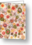 Regina Valluzzi Greeting Cards - Softly bubbling Greeting Card by Regina Valluzzi