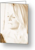 Sel Portrait Digital Art Greeting Cards - Softness Greeting Card by Suesie Q