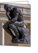 Statues Greeting Cards - Solemn Thinker Greeting Card by Garry Gay