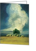 Storm Prints Greeting Cards - Solitude Greeting Card by Anthony Enyedy