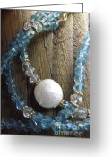 New York City Jewelry Greeting Cards - Something New Something Blue Greeting Card by Marina Larimar