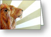 Lions Painting Greeting Cards - Son Greeting Card by Laura Sue