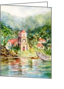 Carlin Greeting Cards - Soufriere Dominica Greeting Card by Carlin Blahnik