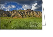 Wild Grass Greeting Cards - South Thompson River Bluffs Greeting Card by Theresa Tahara