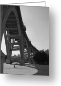 Old Bridge Greeting Cards - South View Colorado St. Bridge Greeting Card by Gilbert Artiaga