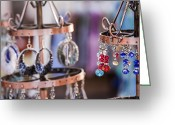 Earrings Photo Greeting Cards - Sparkles Greeting Card by Caitlyn  Grasso