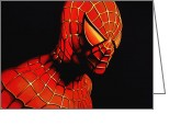 Spider Man Greeting Cards - Spider-man Greeting Card by Paul Meijering