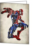 Spider Man Greeting Cards - Spider-Man - Peter Parker Greeting Card by Ayse Toyran