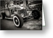 Perry Webster Greeting Cards - Spider Rat Rod Greeting Card by Perry Webster
