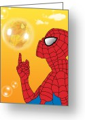 Wonder Woman Greeting Cards - Spiderman 3 Greeting Card by Mark Ashkenazi