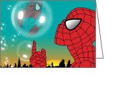 Animation Greeting Cards - Spiderman 4 Greeting Card by Mark Ashkenazi