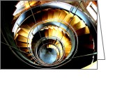Rennie Greeting Cards - Spiral stair 1 Greeting Card by Alan Oliver