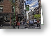 Little Italy Greeting Cards - Spring and Mulberry - Street Scene - NYC Greeting Card by Madeline Ellis