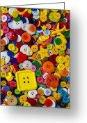 Holes Greeting Cards - Square Button Greeting Card by Garry Gay