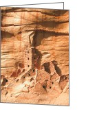 Featured Reliefs Greeting Cards - Square Tower House Mesa Verde Greeting Card by Carl Bandy