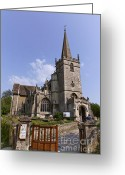 Village Church Greeting Cards - St Cyriacs church in Lacock village in Wiltshire England Greeting Card by Robert Preston