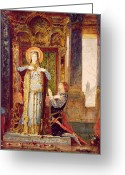 Iconography Painting Greeting Cards - St Elisabeth of Hungary or The Miracle of the Roses Greeting Card by Gustave Moreau
