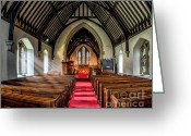 Bible Digital Art Greeting Cards - St Johns Church Greeting Card by Adrian Evans