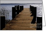Jetty Greeting Cards - St Johns River FLorida - A chain of lakes Greeting Card by Christine Till