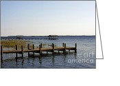 Jetty Greeting Cards - St Johns River Florida - Walk this way Greeting Card by Christine Till