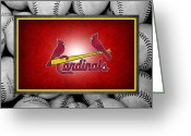 Infield Greeting Cards - St Louis Cardinals Greeting Card by Joe Hamilton