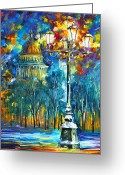 Leonid Afremov Greeting Cards - St. Petersburg New Greeting Card by Leonid Afremov