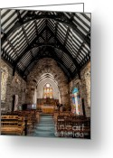 Morgan Greeting Cards - St Tudcluds Church Greeting Card by Adrian Evans