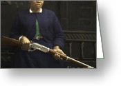 American Cowboy Digital Art Greeting Cards - Stagecoach Mary Fields 20130518 square Greeting Card by Wingsdomain Art and Photography