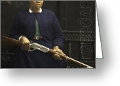 American Cowboy Digital Art Greeting Cards - Stagecoach Mary Fields 20130518 square with text Greeting Card by Wingsdomain Art and Photography