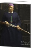 American Cowboy Digital Art Greeting Cards - Stagecoach Mary Fields 20130518 Greeting Card by Wingsdomain Art and Photography