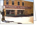 Must See Greeting Cards - Standin on the Corner in Winslow Arizona Greeting Card by Deborah Smolinske