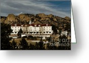 Owl Prints Greeting Cards - Stanley Hotel Greeting Card by Jon Burch Photography