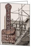 Forlorn Greeting Cards - Stars Steaks Frys and Burgers Greeting Card by JC Findley