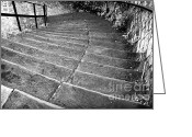 Wrought Iron Stairs Greeting Cards - Steep Greeting Card by John Rizzuto