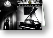 Steinway  Greeting Cards - Steinway and Sons Greeting Card by Natasha Marco