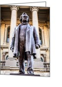 Capitol Greeting Cards - Stephen A. Douglas Statue in Springfield Illinois Greeting Card by Paul Velgos