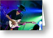 Player Photo Greeting Cards - Steve Vai in Concert Greeting Card by The  Vault