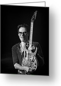 Rock And Roll Greeting Cards - Steve Vai live at The Pabst Theater 3 Greeting Card by The  Vault