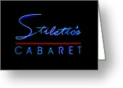 African Heritage Greeting Cards - Stilettos Cabaret Too Greeting Card by Sennie Pierson