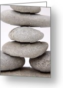 Equilibrium Greeting Cards - Stones Greeting Card by Les Cunliffe