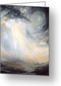 Lapwing Greeting Cards - Storm on Yorkshire Moors Greeting Card by Jean Walker