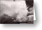 Storm Cloud Greeting Cards - Summer Storm Greeting Card by Steve Gadomski