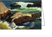 Featured Greeting Cards - Sun Glow Greeting Card by George Wesley Bellows