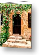 Entryway Greeting Cards - Sunlight Vines Greeting Card by Michael Swanson