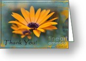 Inspiration Greeting Cards - Sunny Thank You Greeting Card by Jean OKeeffe