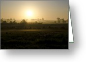 Bill Cannon Greeting Cards - Sunrise in the Country Greeting Card by Bill Cannon